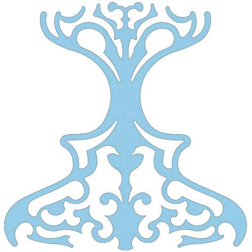 Baby Blue Classic Motif Pattern Tiles