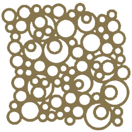Gold Bubbles Motif Pattern Tiles