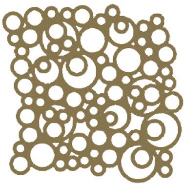 Gold Bubbles Motif Pattern Tiles