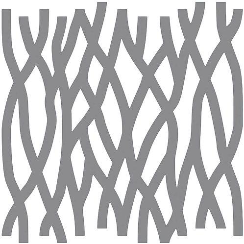 Cool Beige Roots Motif Pattern Tiles