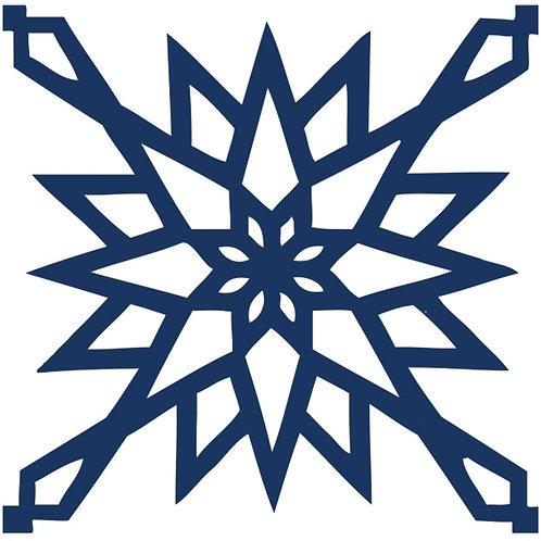 Navy Blue Arabic Motif Pattern Tiles