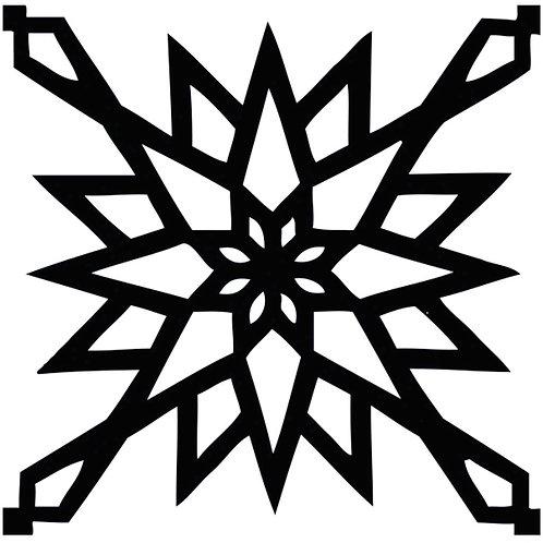 Black Arabic Motif Pattern Tiles