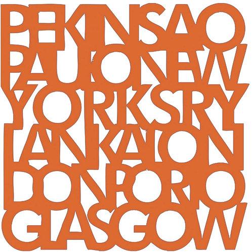 Orange Cities Motif Pattern Tiles
