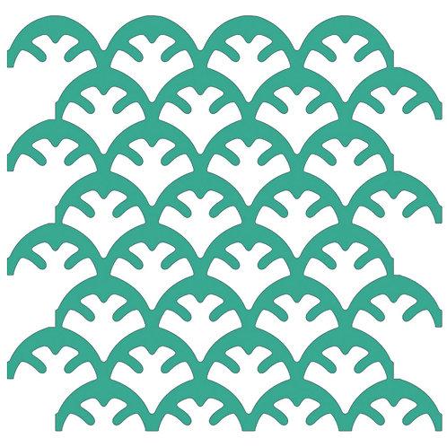 Emerald Coral Motif Pattern Tiles