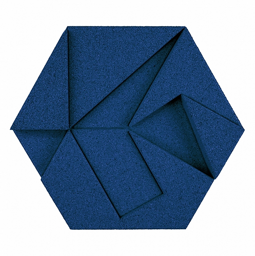Blue Hexagon 3D Tiles