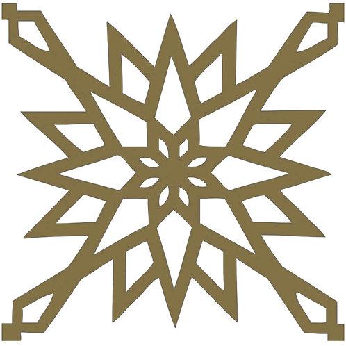 Gold Arabic Motif Pattern Tiles