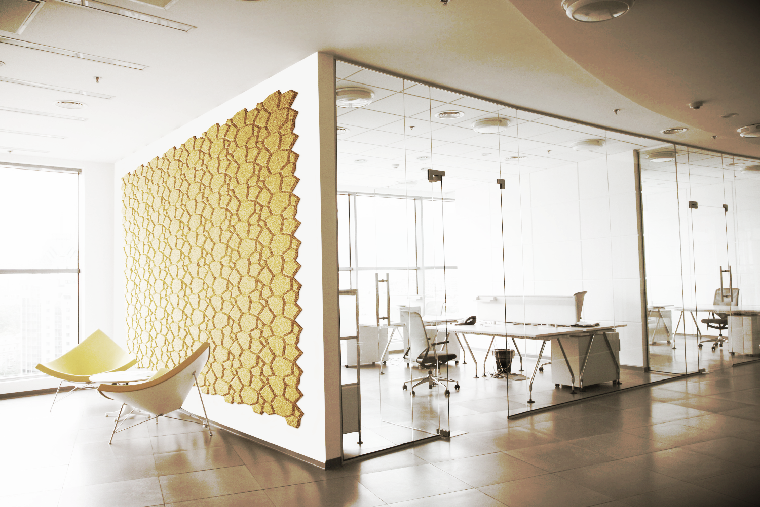 Beehive-Yellow - Muratto Cork Wall