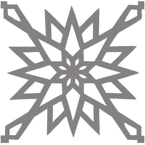 Silver Arabic Motif Pattern Tiles