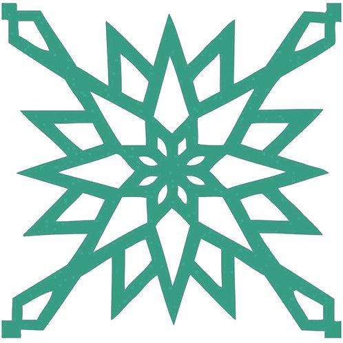 Emerald Arabic Motif Pattern Tiles