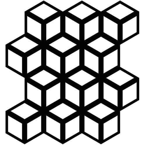 Black Cinetic Motif Pattern Tiles