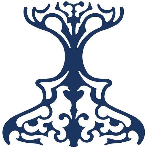 Navy Blue Classic Motif Pattern Tiles