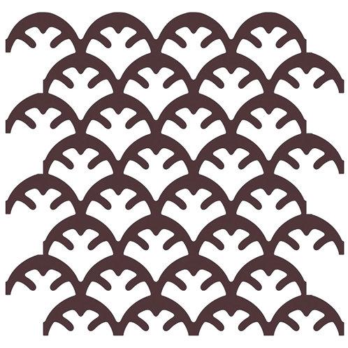 Chocolate Coral Motif Pattern Tiles