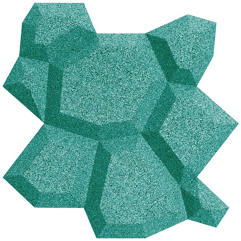Turquoise Beehive 3D Tiles