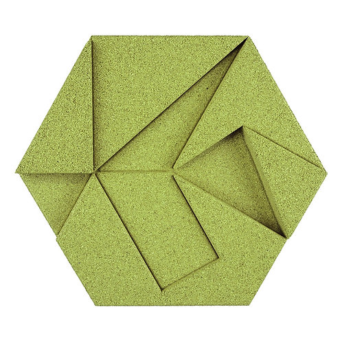 Olive Hexagon 3D Tiles