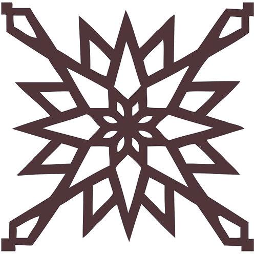Chocolate Arabic Motif Pattern Tiles