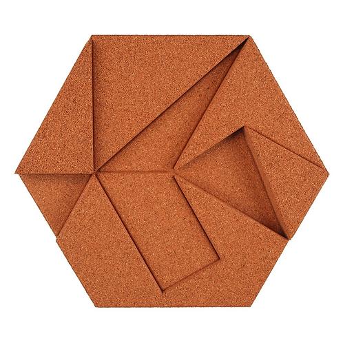 Copper Hexagon 3D Tiles