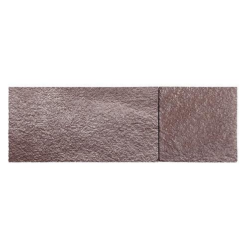 Brown Silver Shimmer Cork Stone Tiles