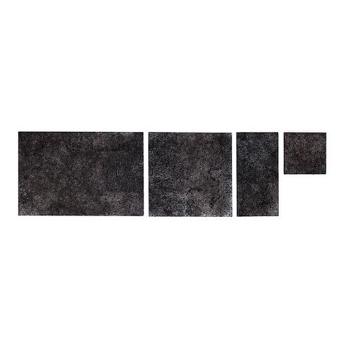 Black Silver Cork Grand Tiles