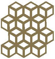 Gold Cinetic Motif Pattern Tiles