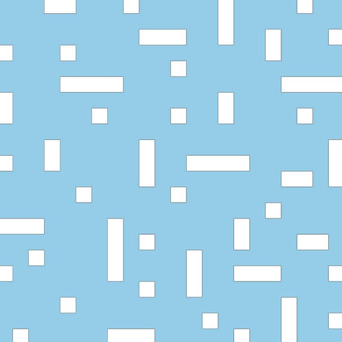 Baby Blue No Touch Motif Pattern Tiles