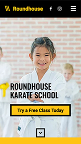 Education website templates – Children Karate School