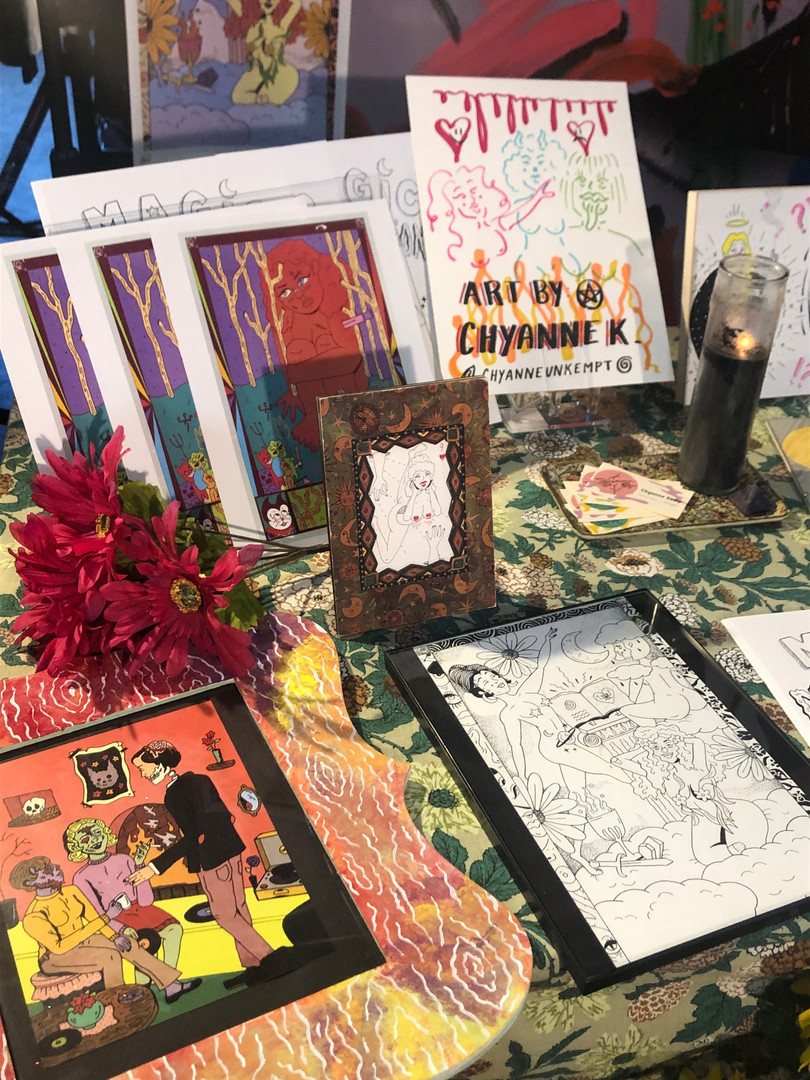 Table at Shop Green Graveyard Launch Party   2020