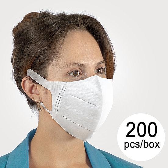 200 Mascherine antipolvere/antibatteriche (BFE): > 95 %
