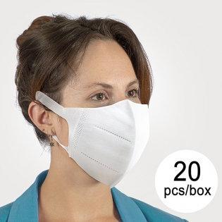 20 Mascherine antipolvere/antibatteriche (BFE): > 95 %