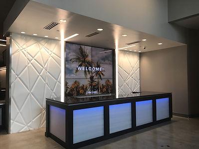 Full Welcome desk with lights.JPG