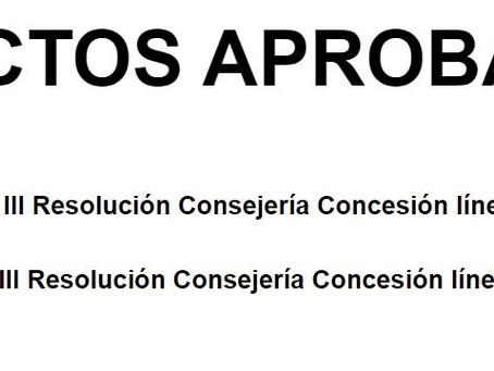 Concesión expedientes III tramo convocatoria.