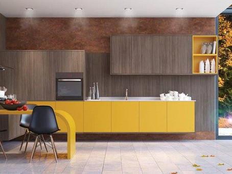 A escolha das cores na decoração da cozinha.