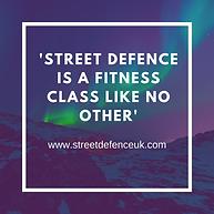 'Street Defence - A fitness class like n