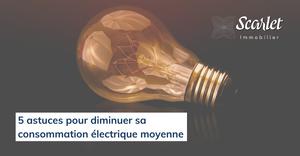 consommation électrique moyenne par mois