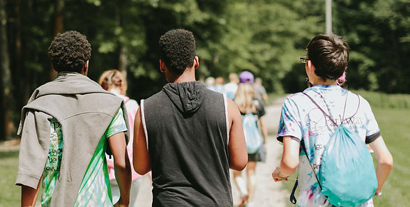 Teens forming friendships at TRUST Camp