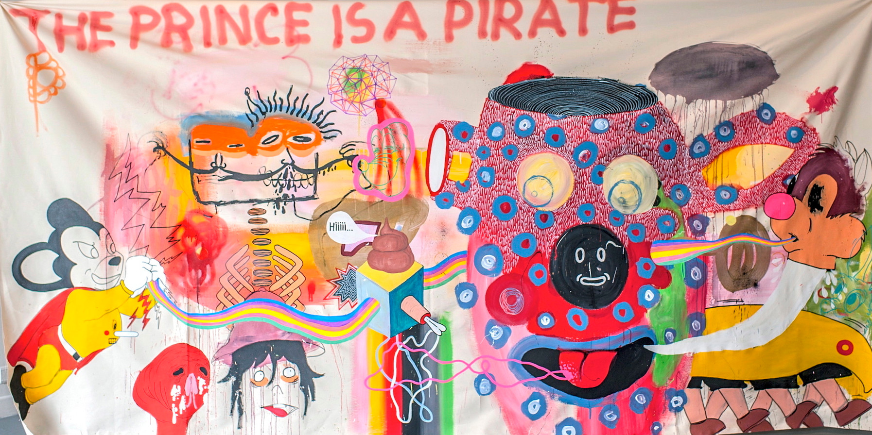 The prince is a pirate - 330 x 180 cm -