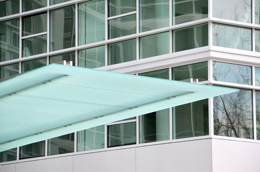 Architectural Glass canopy on Connecticut Avenue Washington DC