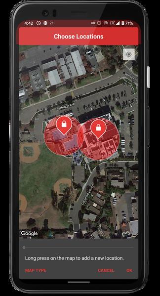 Choosing lockout locations