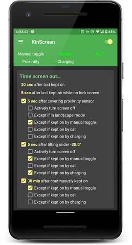 Turn-screen-off Functions