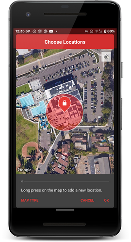 Choose physical locations to lock at
