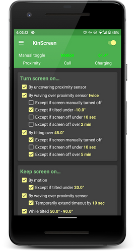 Turn-screen-on Functions