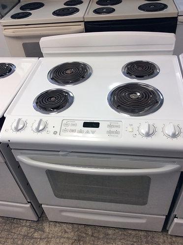 GE slide in stove
