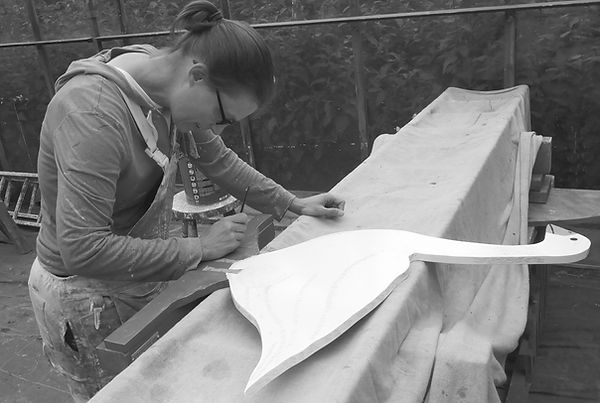 Rachel adding the finihing touches to an Artisan Goose in our Working Hunter Range. Bespoke hand painted animals of your choice are available on request.