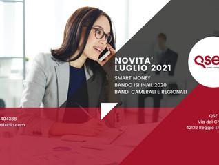 Novità Finanziamenti/Bandi per le aziende Luglio 2021