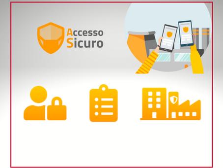 E' online AccessoSicuro, la nuova webapp aziendale per la Fase 2!
