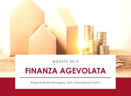 Novità Finanziamenti Agosto 2019