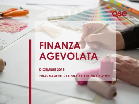 Novità Finanziamenti/Bandi per le aziende Dicembre 2019
