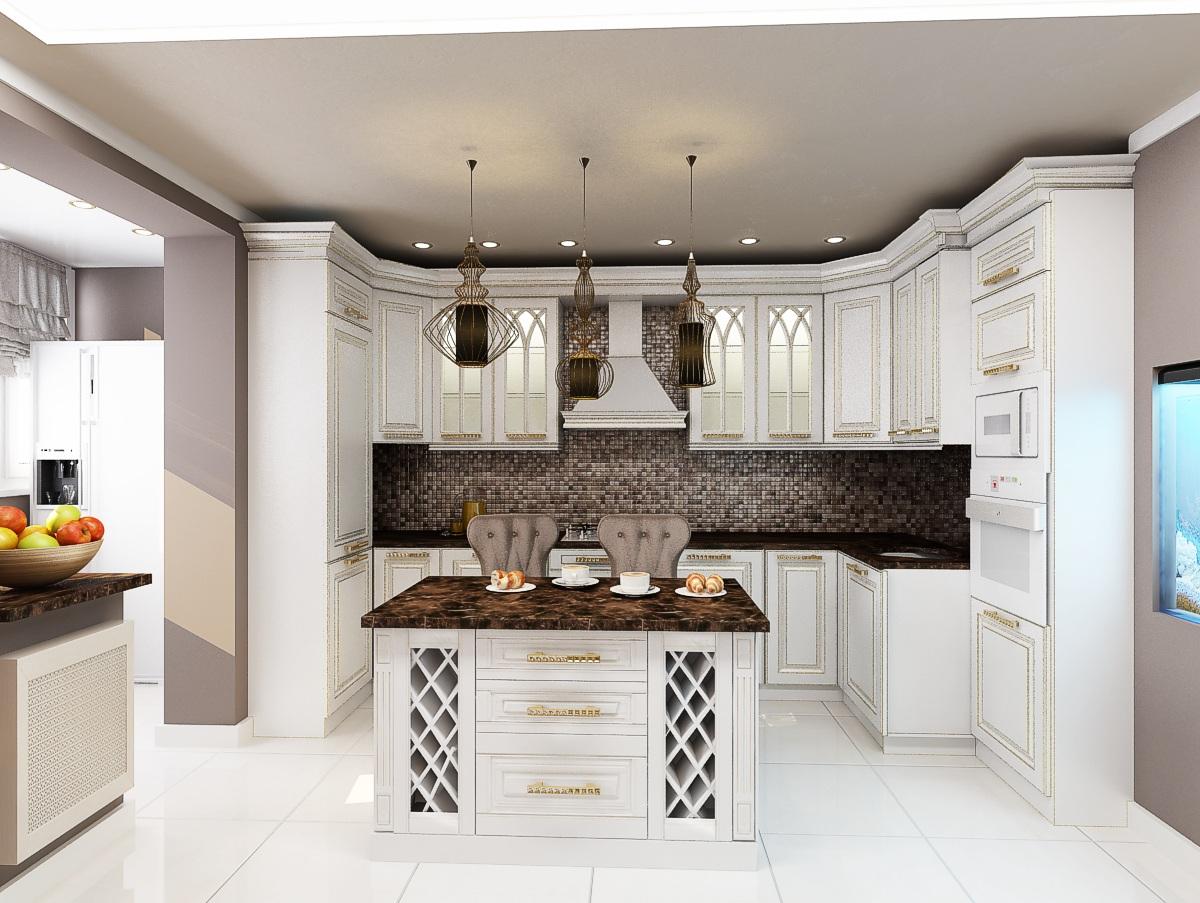 дизайн кухни-гостиной