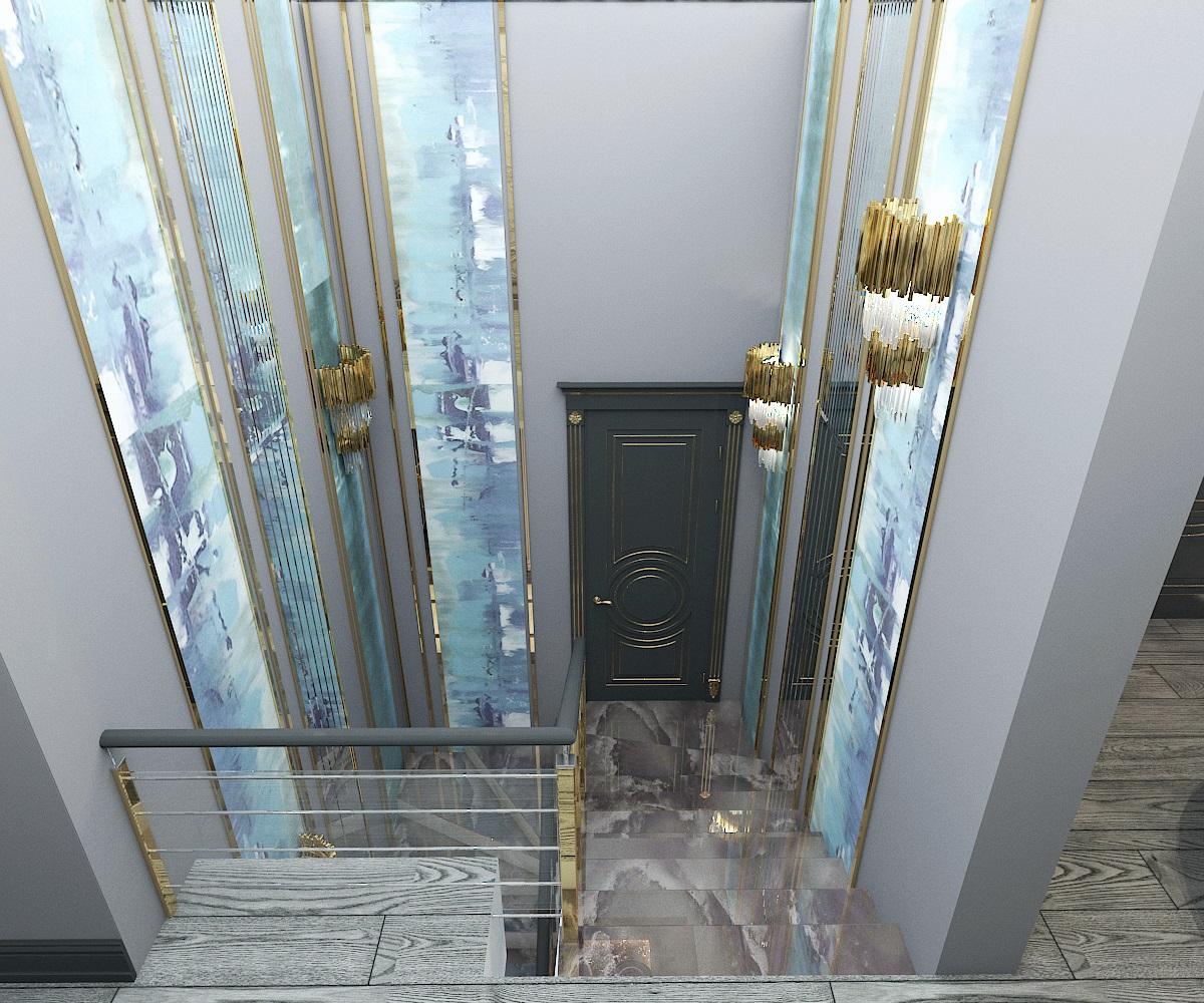 дизайн холла 2 этаж