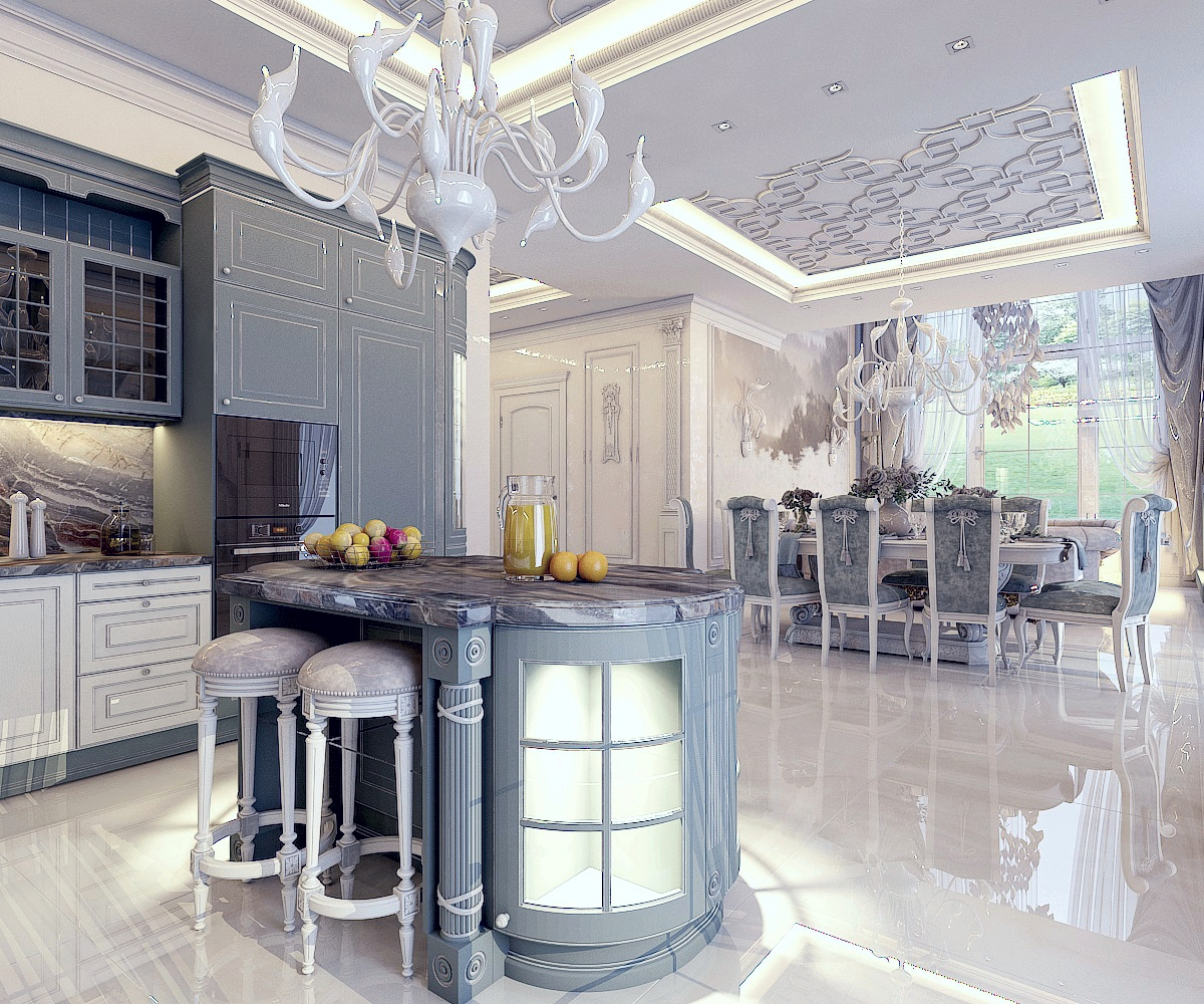 Дизайн кухни-гостиной (г.Москва)