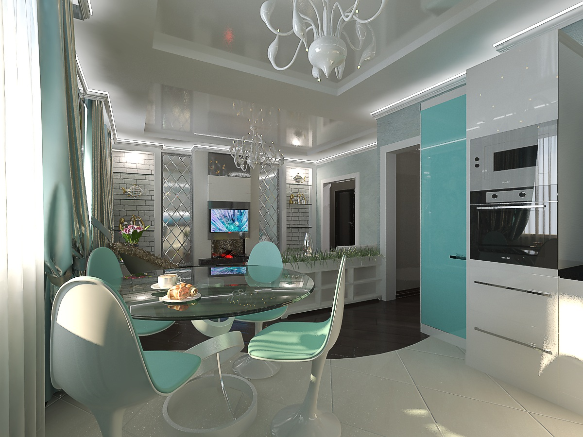 дизайн кухни-гостиной1